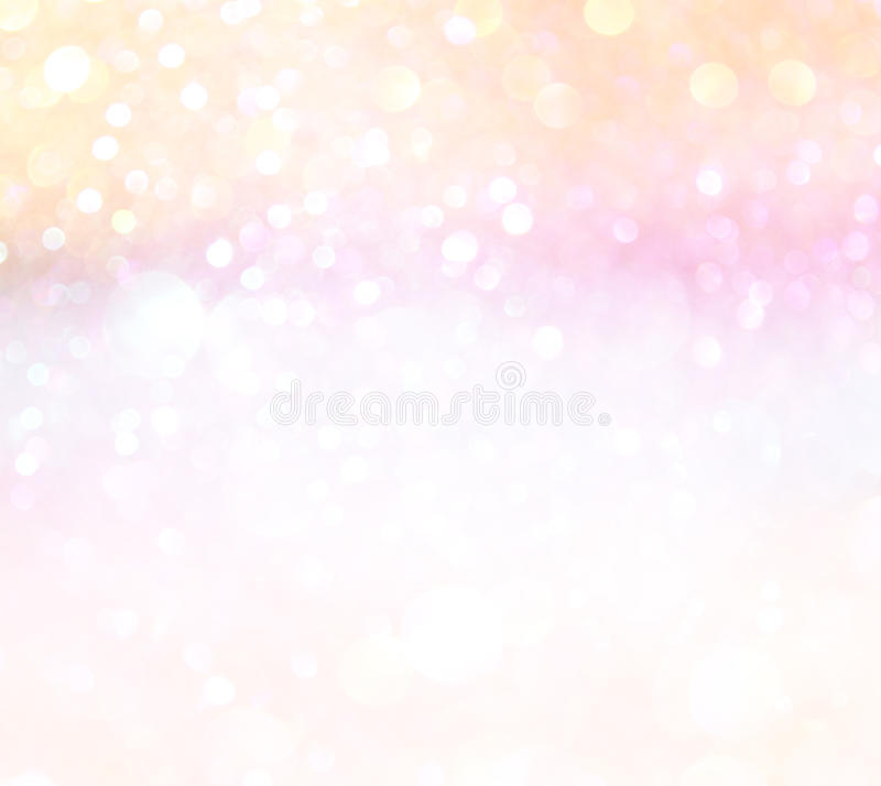 Luci pastelli del bokeh o luci defocused multicolori immagini stock