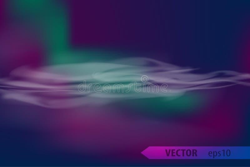 Luci polari nordiche di aurora borealis illustrazione vettoriale