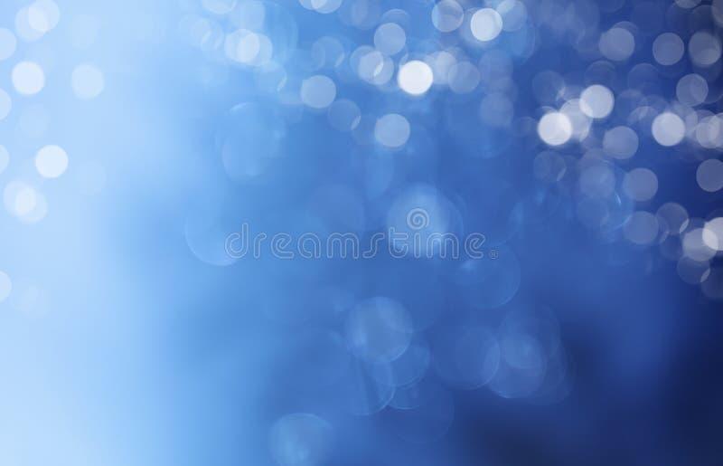 Luci su fondo blu. fotografia stock