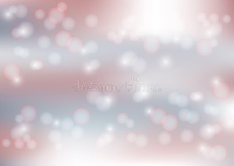 Luci sul fondo rosso e blu Blurred di Bokeh - Vector l'illustrazione, progettazione grafica utile per l'insegna di web, fondo illustrazione vettoriale