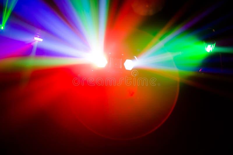 Luci vaghe Colourful della discoteca fotografie stock
