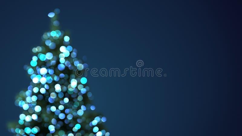 Luci vaghe del blu dell'albero di Natale royalty illustrazione gratis