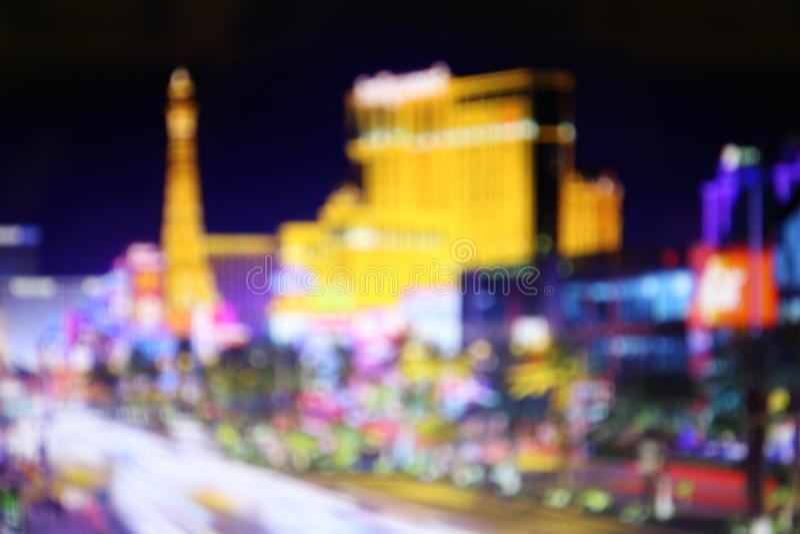 Luci vaghe della notte Las Vegas fotografie stock