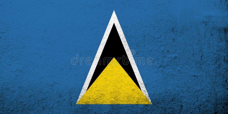 Lucia bandery święty krajowej Grunge tło ilustracja wektor