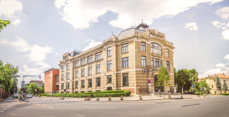 Lucian Blaga Środkowa biblioteka uniwersytecka w Cluj Napoca zdjęcia stock