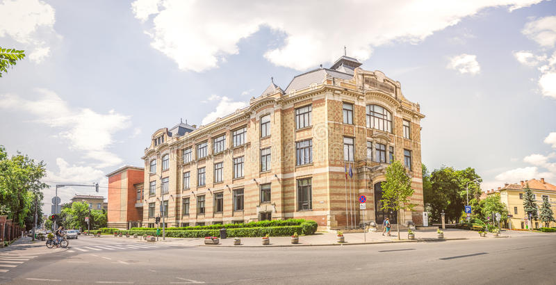 Lucian Blaga Central University Library en Cluj Napoca fotos de archivo