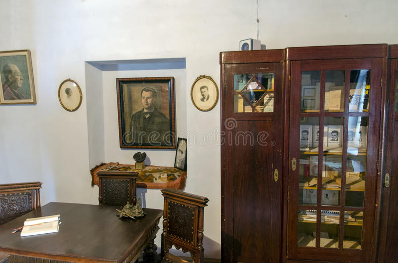Lucian Blaga Memorial House royalty-vrije stock afbeelding