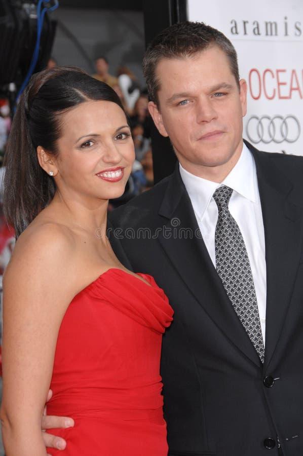 Luciana Barroso, Matt Damon photos libres de droits
