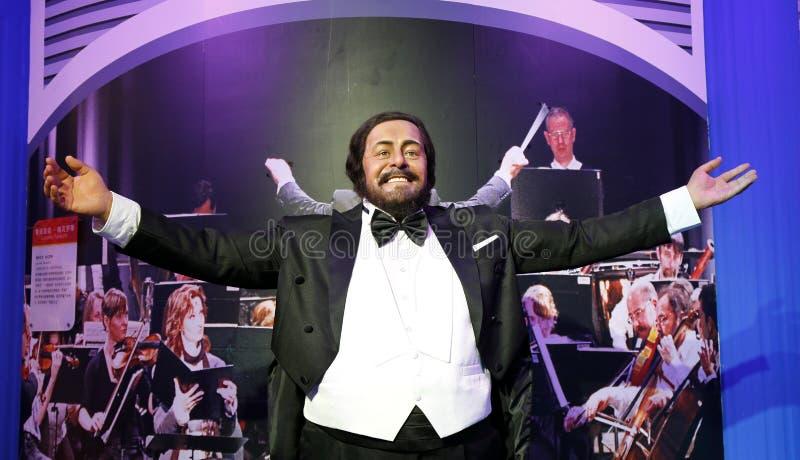 Luciano Pavarotti, статуя воска, диаграмма воска, изделие из воска стоковые фотографии rf