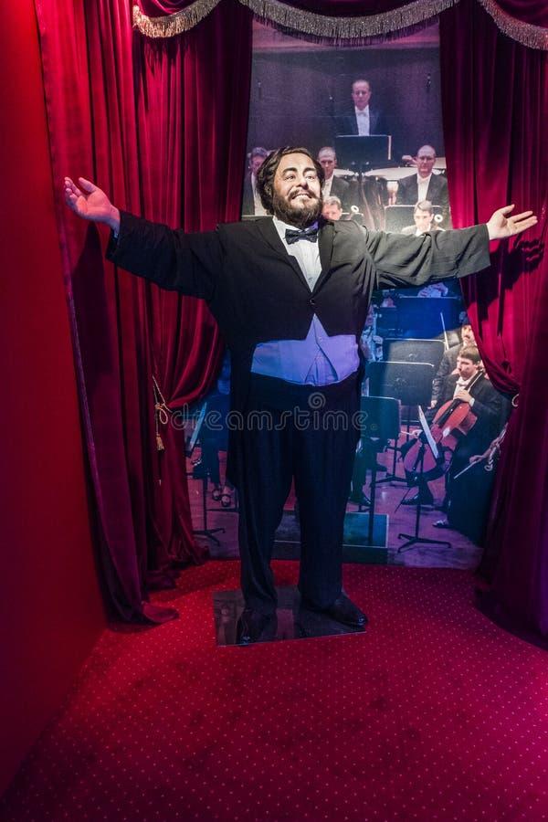 Luciano Pavarotti wax figure. Wax figure museum in Krakow at Floriańska street ., Luciano Pavarotti figure . Poland , Europe royalty free stock image