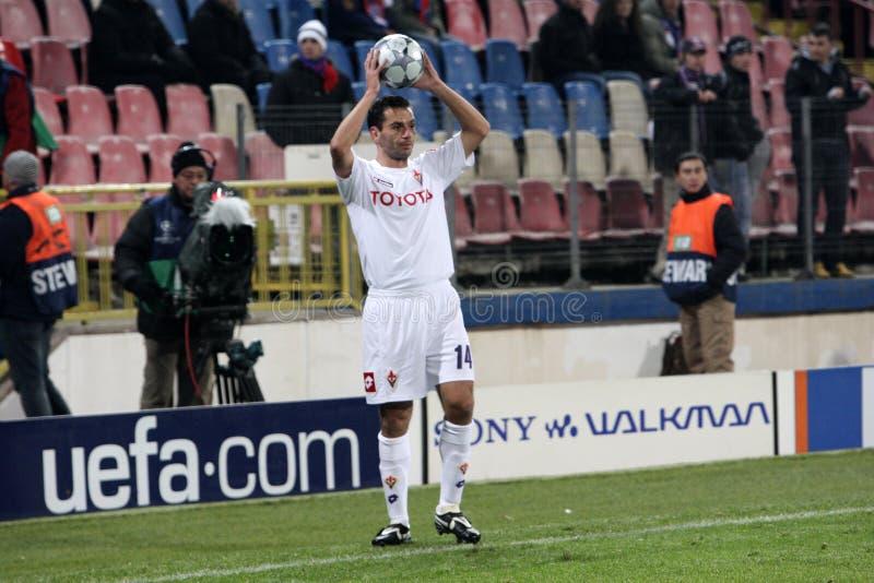 Luciano Zauri. Playing football in Bucharest stock photography