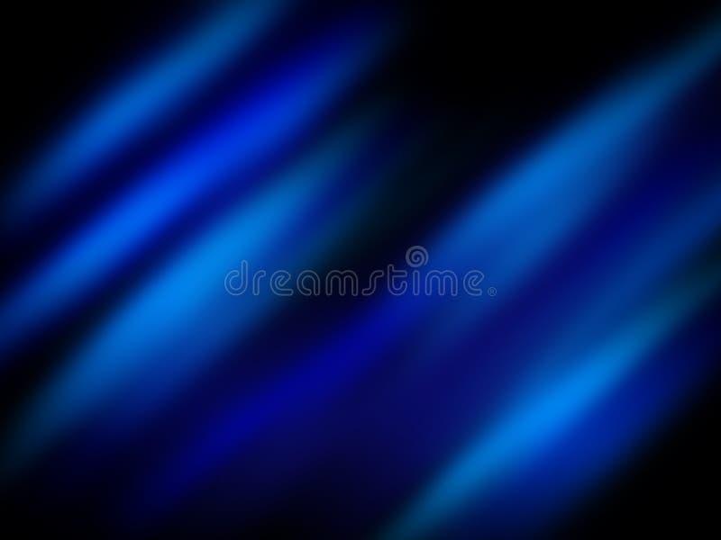 Lucidare blu sul nero illustrazione vettoriale