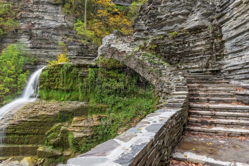 Lucifer Falls At The Robert H Parco di stato di Treman fotografia stock libera da diritti