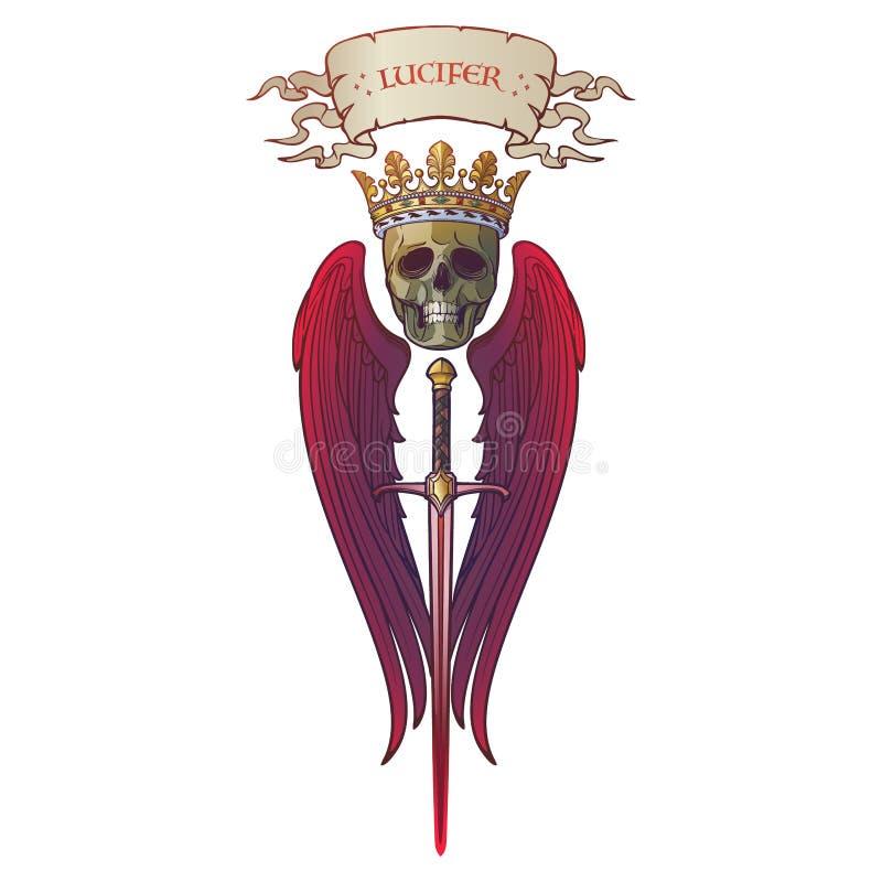 Lucifer follen ángel stock de ilustración