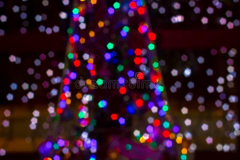 Lucioles colorées par Noël photo libre de droits