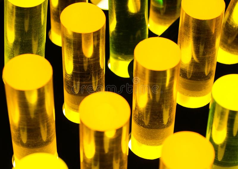 Lucite Pillars on a Lighted Board stock photos