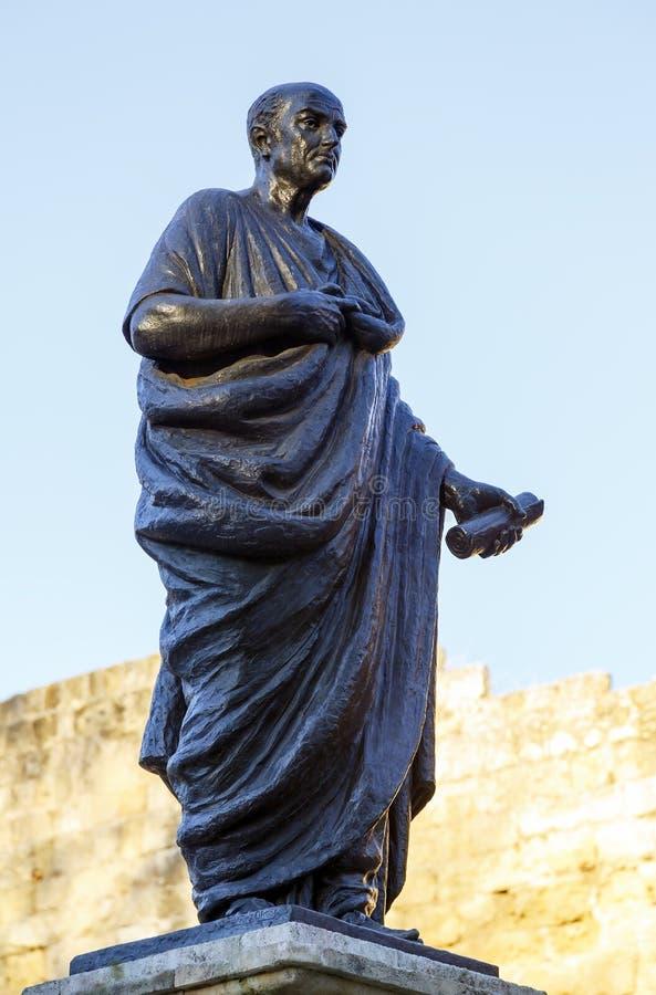 Lucius Annaeus Seneca, conhecido como o Seneca o mais novo, Córdova, Espanha fotos de stock
