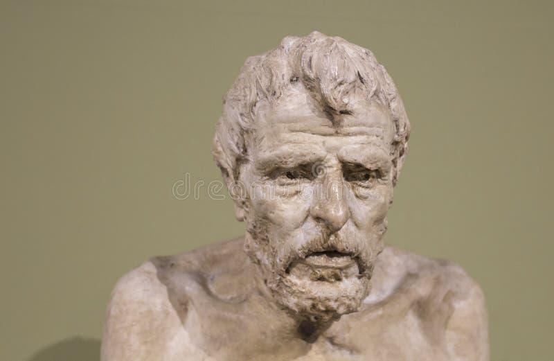 Lucius Annaeus Seneca ha scolpito da Mateo Inurria fotografia stock