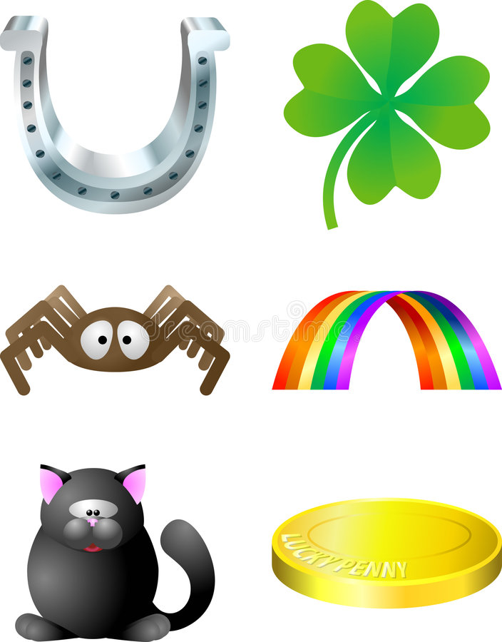 Download Luck elements stock vector. Image of illustration, four - 2988039
