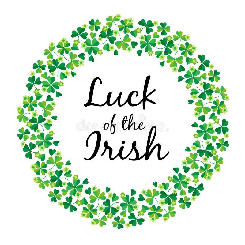 Luck Of The Irish In Shamrock Circle Frame Stock Illustration -  Illustration of green, decoration: 110467424