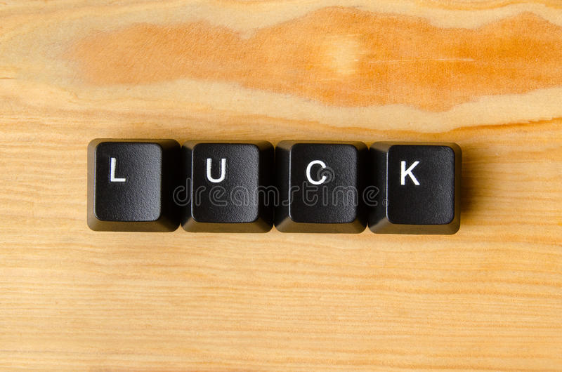 Luck word. With keyboard buttons stock photography