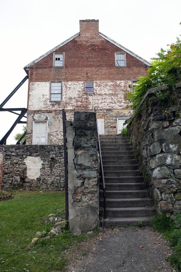 Luckenbach-Mühle stockbild