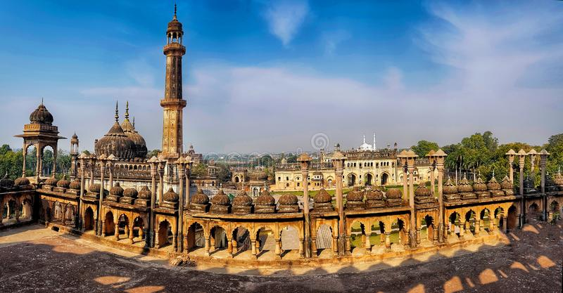 Lucknow city scape horizon viewed from top of bara imambara. lucknow tourism stock photography