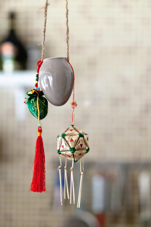 Lucky bell. In shop show window stock photography