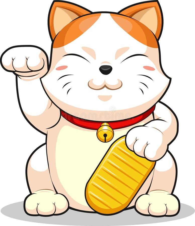 Lucky Cat (Makeni Neko) illustration stock
