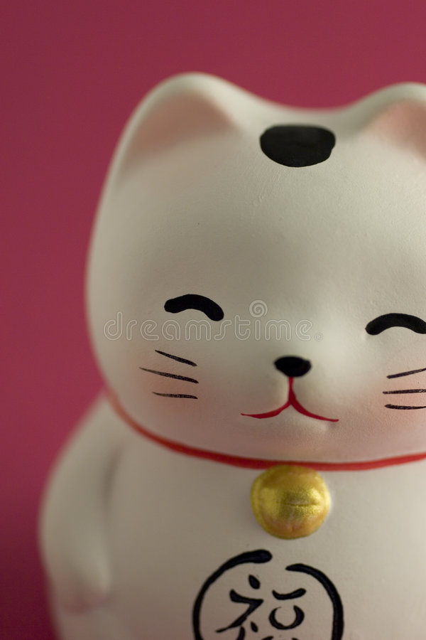 Download Lucky cat ornament stock photo. Image of ornament, looking - 6430072