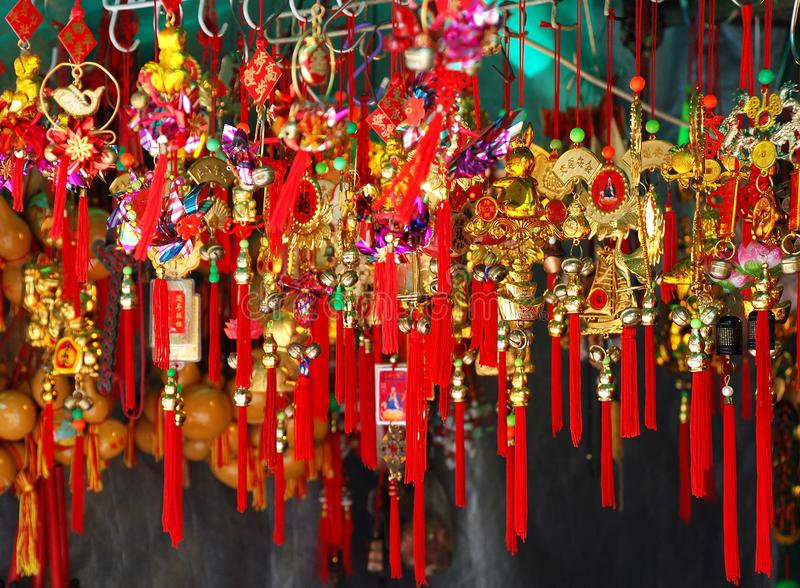 Chinese New Year souvenirs royalty free stock images