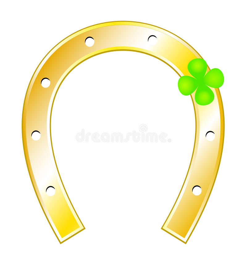 Download Lucky Charms - Horseshoes And Clover With Four Lea Stock Vector - Image: 21096746