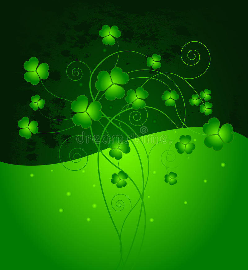 Download Lucky clover background stock vector. Illustration of banner - 18420697