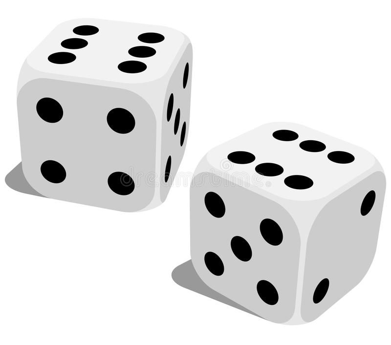 Lucky dice vector illustration