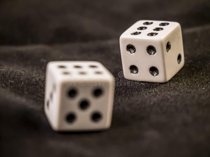 Lucky Dice Podwójne sześć Zwycięska kombinacja obrazy stock