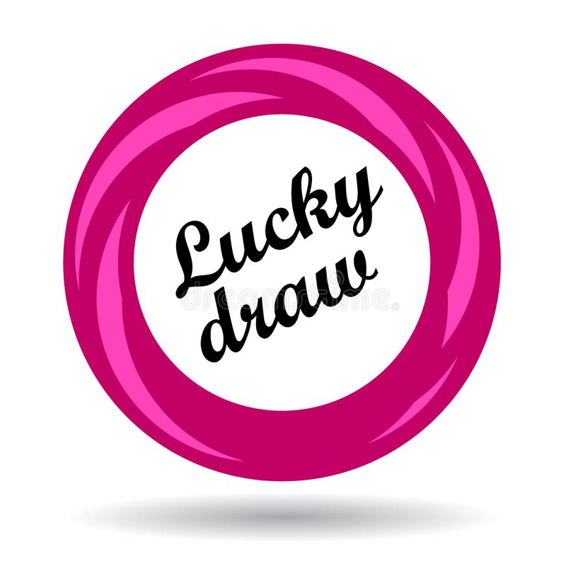 Lucky draw colorful icon vector illustration