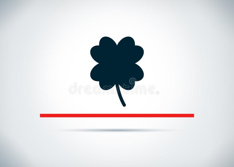 Lucky four leaf clover icon abstract flat background design illustration. Lucky four leaf clover icon isolated on abstract flat background design illustration vector illustration