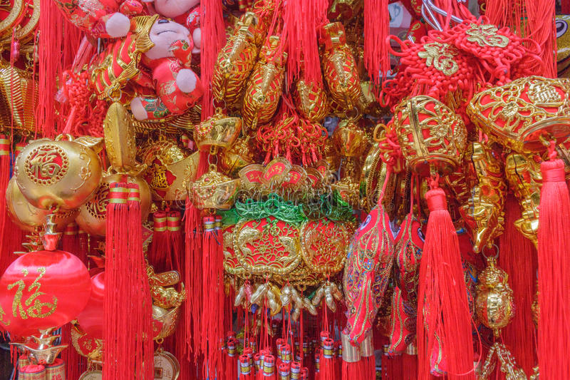 Lucky knot for Chinese New Year decoration stock photo
