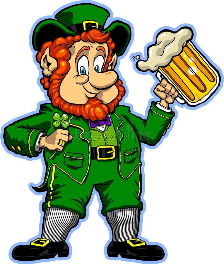 Lucky Leprechaun stock illustration. Illustration of happy ...