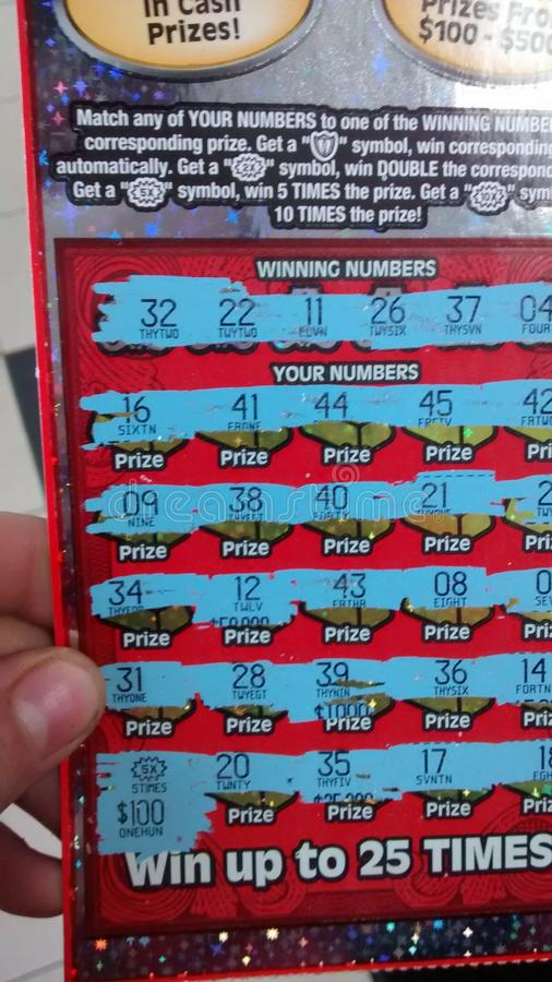 Lucky lotto ticket royalty free stock images