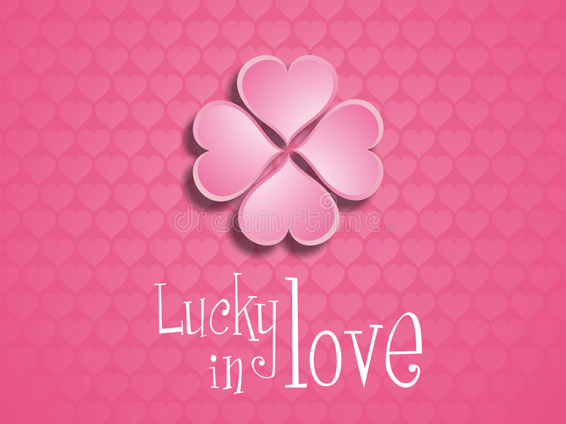 Download Lucky in love. stock illustration. Illustration of greeting - 6712656