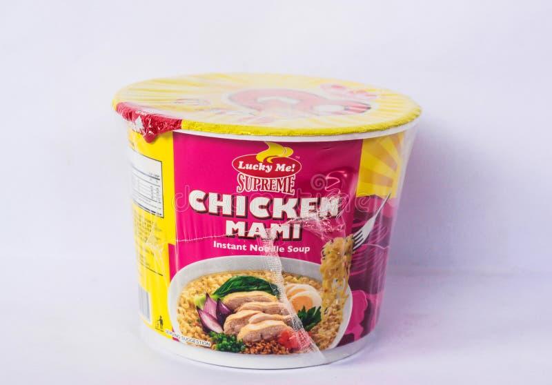 Lucky Me Supreme Chicken Mami photos stock