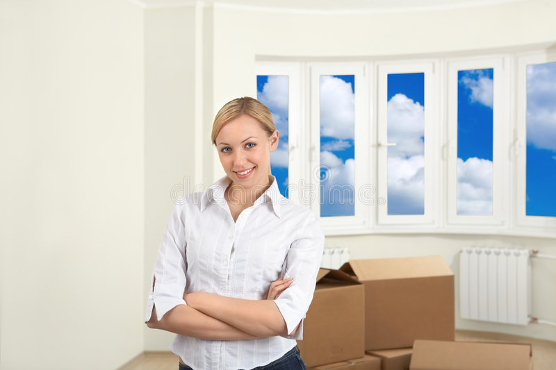 A lucky move-in stock photography