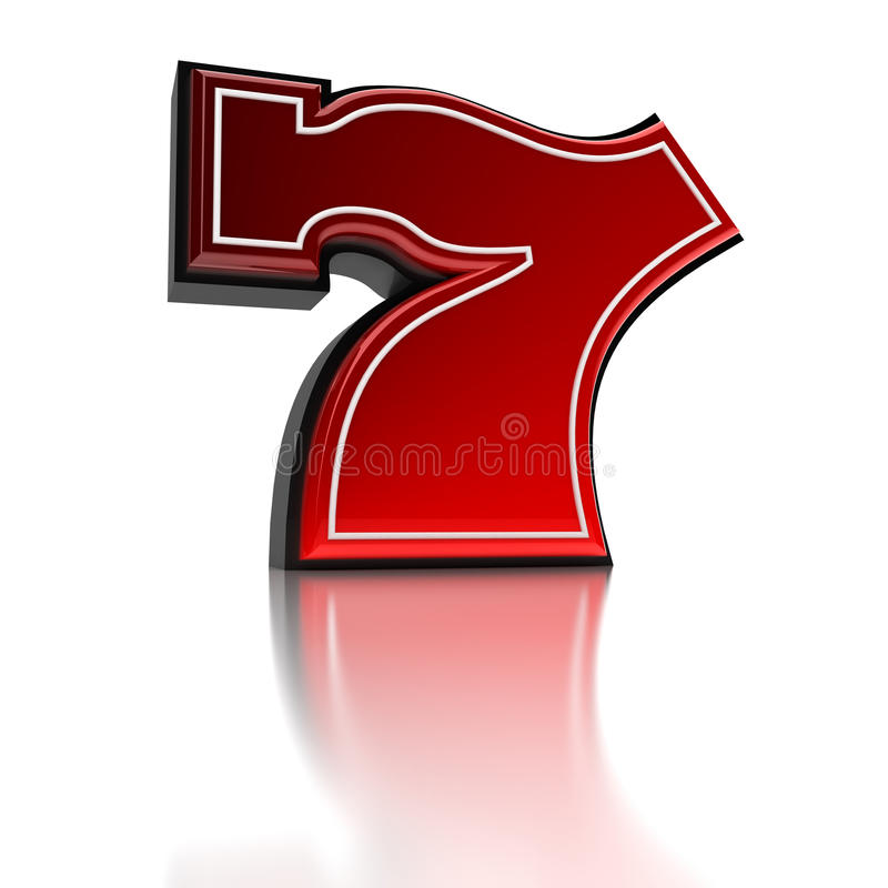 Lucky number seven stock illustration