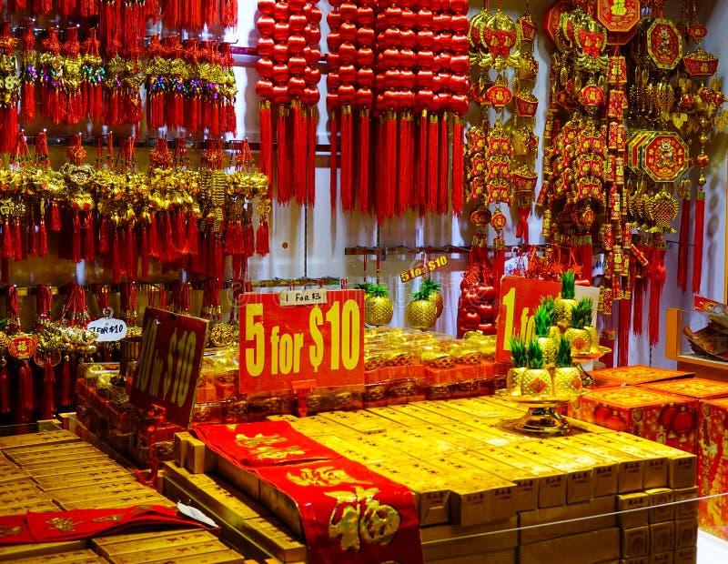 Lucky ornaments at street market royalty free stock photos