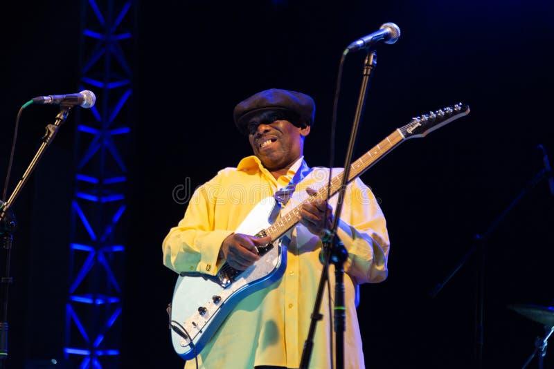 Lucky Peterson, Etats-Unis Kriol Jazz Festival photographie stock libre de droits