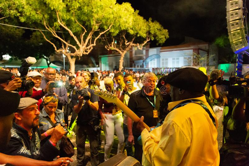 Lucky Peterson, Etats-Unis Kriol Jazz Festival photo stock