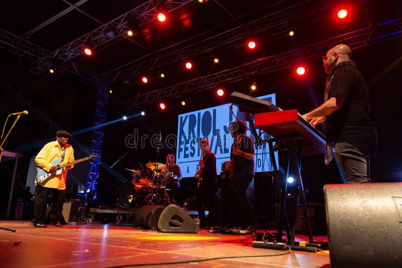 Lucky Peterson, Etats-Unis Kriol Jazz Festival photos libres de droits
