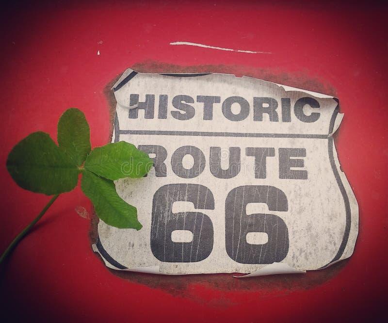 Lucky Route 66 foto de archivo