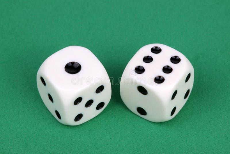 A Lucky seven stock image